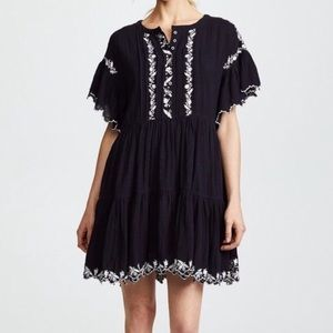 Free People Boho Embroidered Dress - Fits All